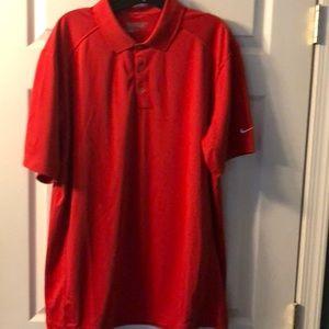 Men's Red NIKE GOLF 🏌️ Shirt